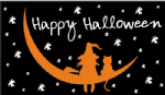 Halloween Witch & Cat Large Flag - 5' x 3'